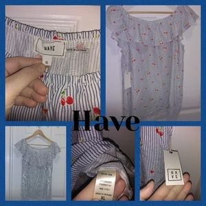 Brand New With tags Have ruffled top Size XL